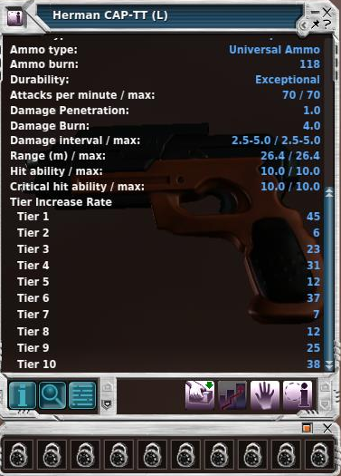 Attacks Per Minute for Weapons in Entropia Universe